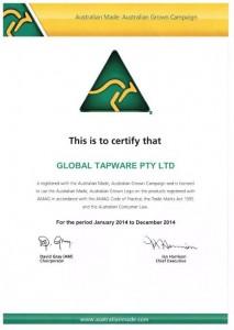 Australian Made Certificate